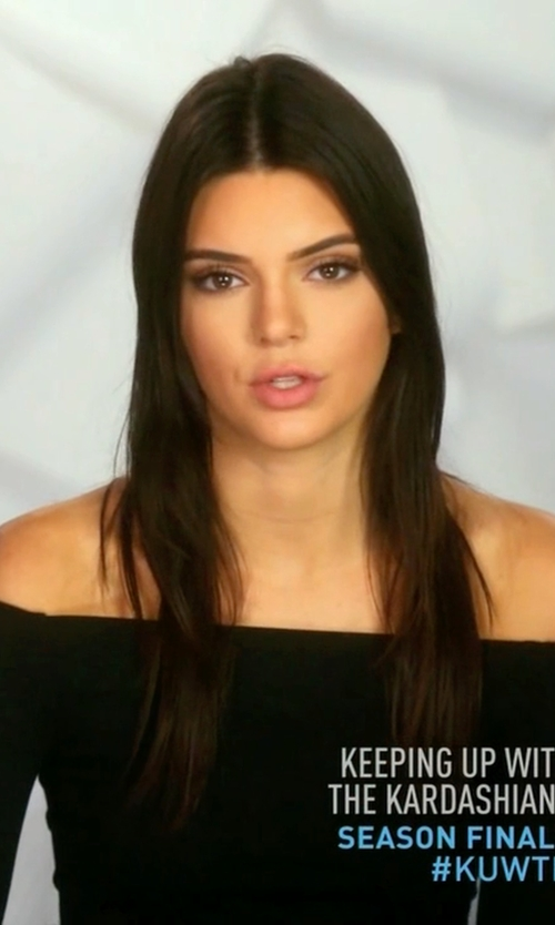 Kendall Jenner with Nasty Gal Off & On Ribbed Crop Top in Keeping Up With The Kardashians
