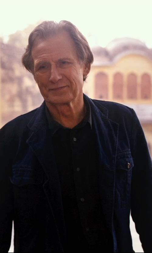 Bill Nighy with Margaret Howell Washed Cotton-Twill Jacket in The Second Best Exotic Marigold Hotel