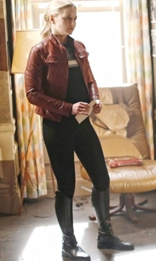 Jennifer Morrison with Ecco  Adel Tall Zip Boots in Once Upon a Time
