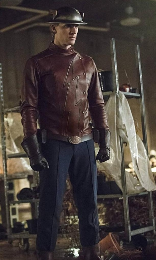 "Teddy Sears with Kate Main (Costume Designer) Custom Made ""The Flash"" Outfit in The Flash"