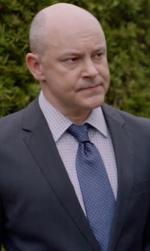 Rob Corddry with Boss Hugo Boss Huge Genius Slim-Fit Basic Suit in Ballers