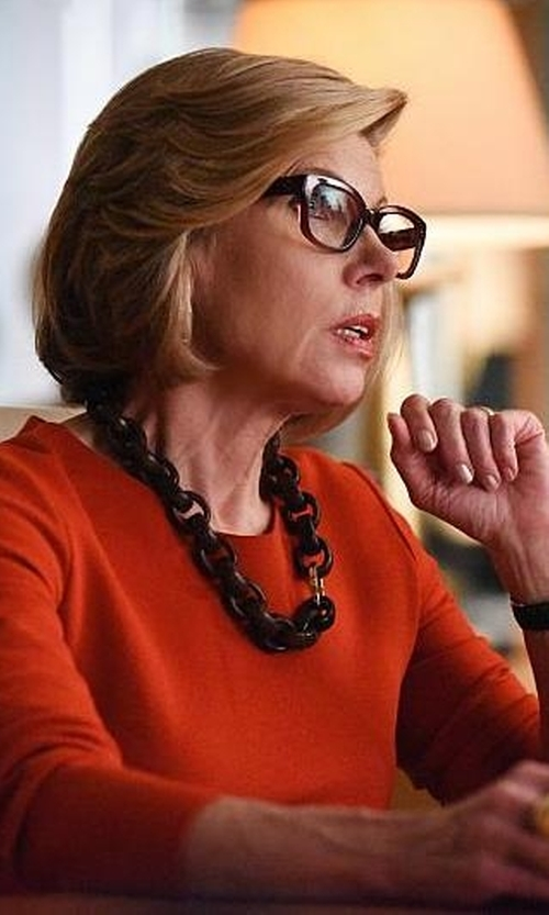 Christine Baranski with Eileen Fisher Crewneck Top in The Good Wife