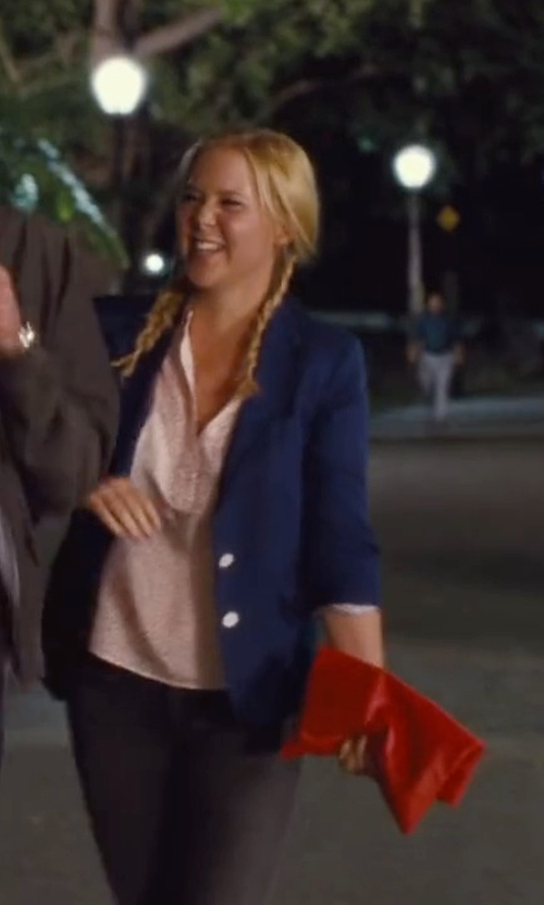 Amy Schumer with Styles For Less Airplane Mode Knit Blazer in Trainwreck