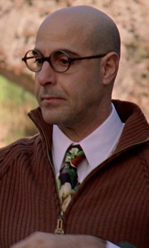 Stanley Tucci with Tommy Bahama Tropic Inspired Silk Tie in The Devil Wears Prada