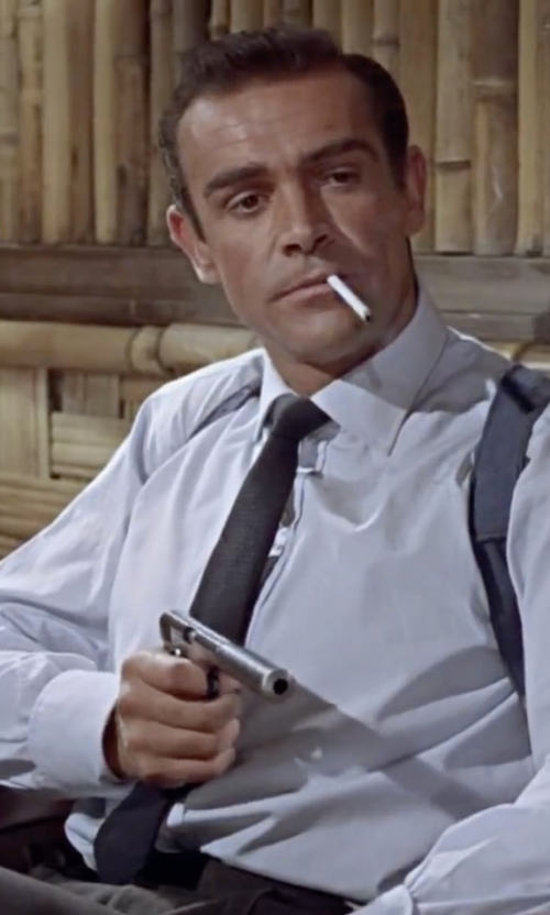 Sean Connery with DKNY Golden Island Tie in Dr. No