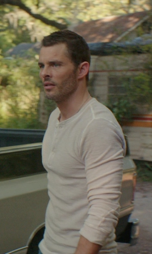 James Marsden with Polo Ralph Lauren Textured Henley Shirt in The Best of Me