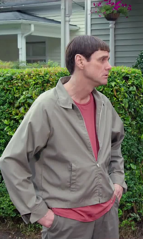 Jim Carrey with Faherty Pocket Crew T-Shirt in Dumb and Dumber To
