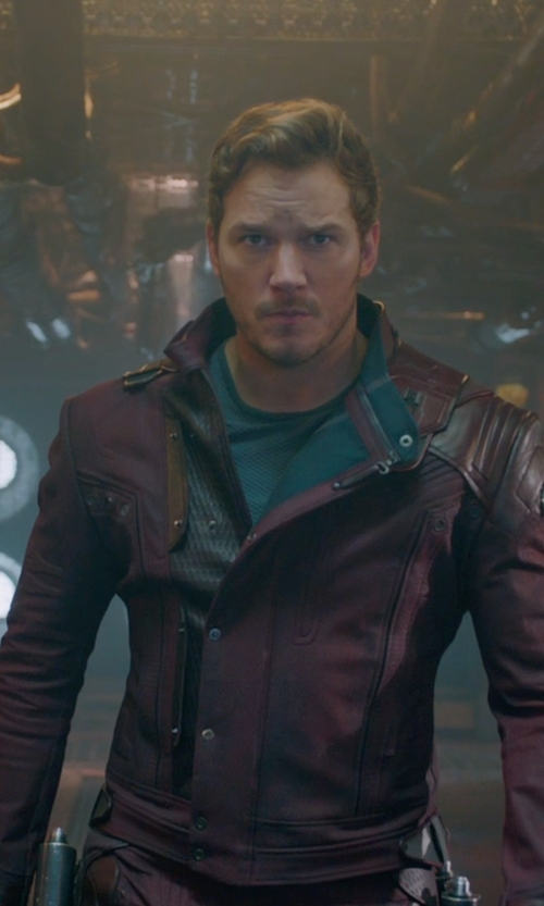 Chris Pratt with Alexandra Byrne (Costume Designer) Custom Made Costume (Peter Quill / Star-Lord) in Guardians of the Galaxy