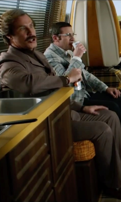 Will Ferrell with Hickey Freeman Wool Suiting Dress Pants in Anchorman 2: The Legend Continues