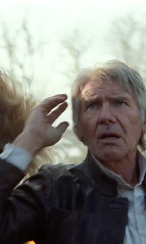 Harrison Ford with Matchless Men's Han Solo Jacket in Star Wars: The Force Awakens