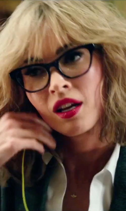 Megan Fox with Prada Cat-Eye Contrast-Arm Glasses in Teenage Mutant Ninja Turtles: Out of the Shadows