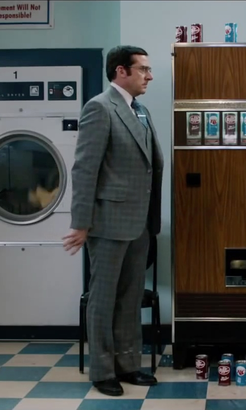 Steve Carell with Gant Rugger Kick Ass Oxford Shirt in Anchorman 2: The Legend Continues