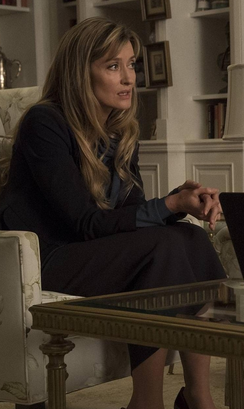 Natascha McElhone with Kasper Stretch Crepe Column Midi Skirt in Designated Survivor