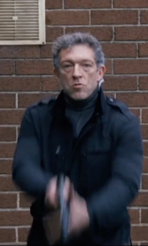 Vincent Cassel with Brloote Turtleneck Stretch Wool Sweater in Jason Bourne
