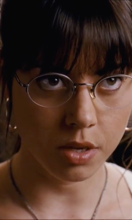 Aubrey Plaza with Alex And Ani Medium Perfect Hoop Earrings in Scott Pilgrim Vs. The World