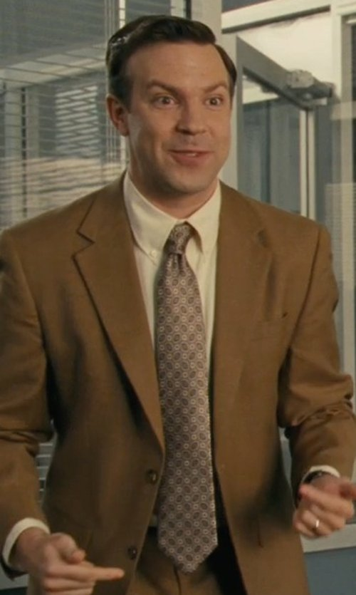 Jason Sudeikis with Moreschi Printed Silk Tie in Hall Pass