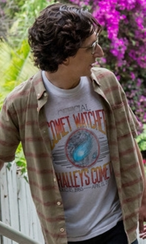 Paul Rust with Polo Ralph Lauren Graphic-Print T-Shirt in Love
