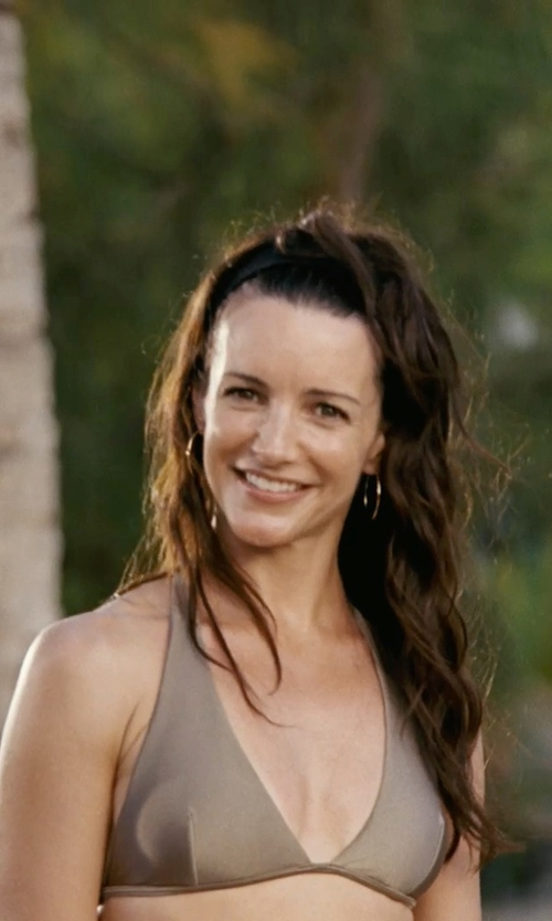 Kristin Davis with Athleta Shirrendipity Halter Bikini Top in Couple's Retreat