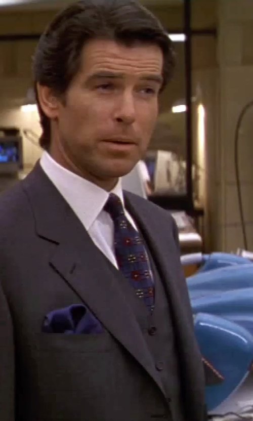 Pierce Brosnan with Boss Hugo Boss Marlyn Tux Dress Shirt in GoldenEye