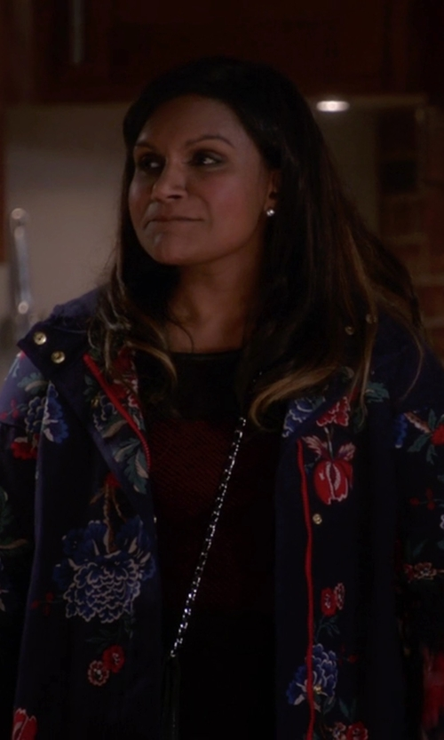 Mindy Kaling with Valentino 'Camugarden' Coat in The Mindy Project