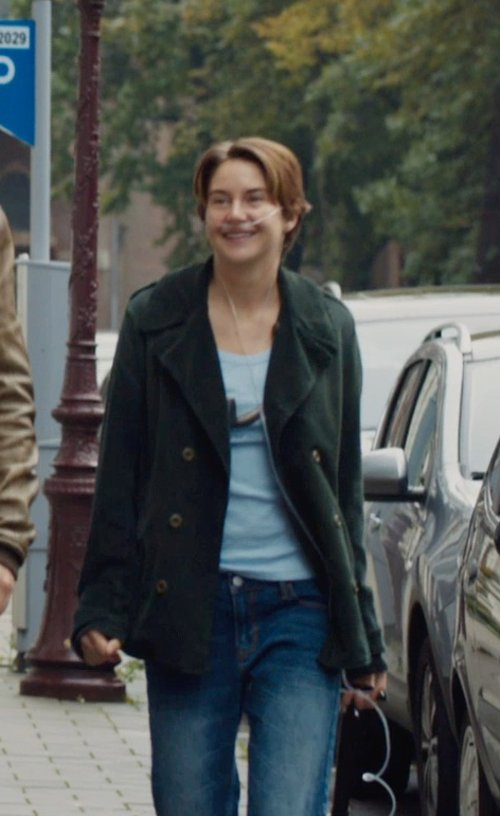 Shailene Woodley with PAIGE PREMIUM DENIM Denim pants in The Fault In Our Stars