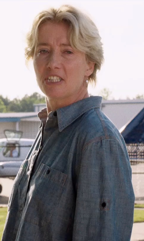 Emma Thompson with Rails Marlow Button Down Shirt in A Walk in the Woods