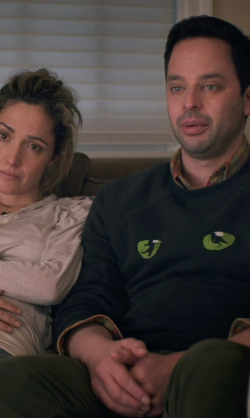 Nick Kroll with Versace Jeans Back Pocket Sweatpants in Adult Beginners