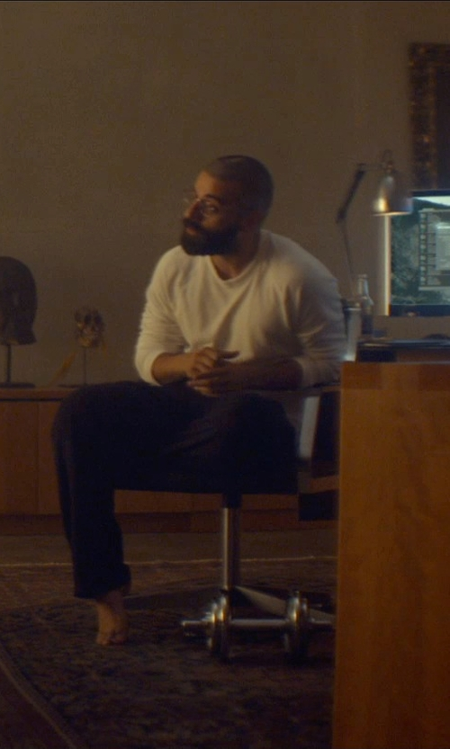 Oscar Isaac with Fourstar Koston Fleece Pants in Ex Machina