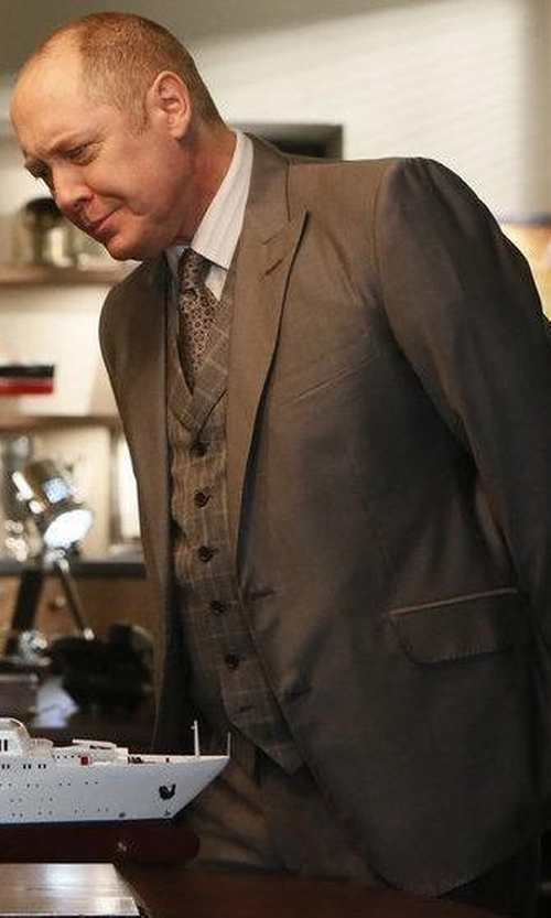 James Spader with Pal Zileri Three-Piece Wool Suit in The Blacklist