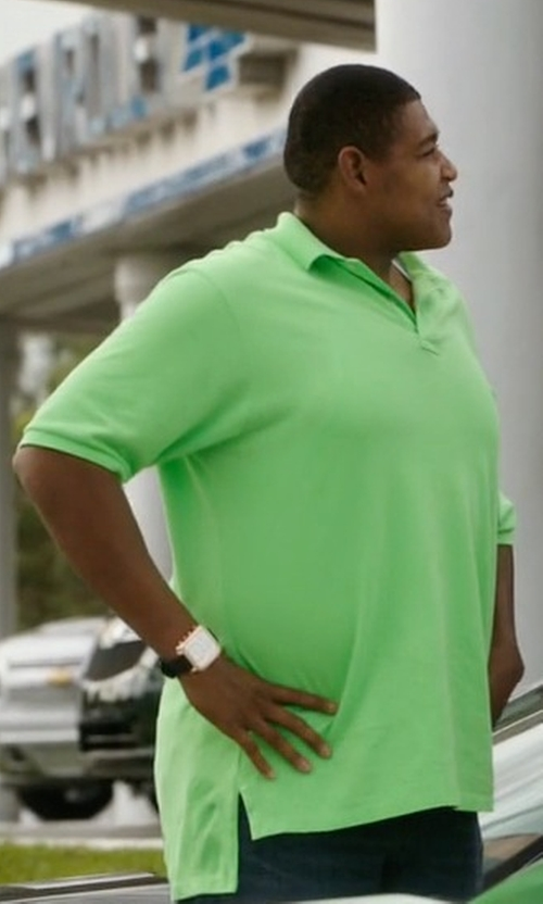 Omar Benson Miller with Versace Character Rose Leather Chronograph Watch in Ballers