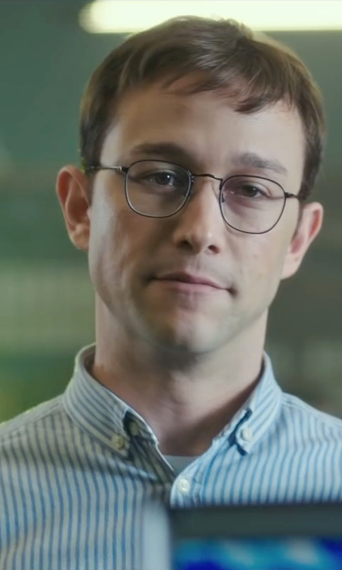 Joseph Gordon-Levitt with Brooks Brothers Border Stripe Sport Shirt in Snowden