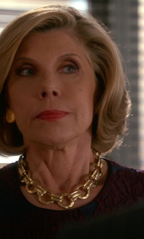 Christine Baranski with Fornash Wentworth Necklace in The Good Wife