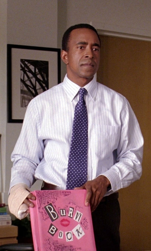 Tim Meadows with Ben Sherman Striped Long Sleeve Shirt in Mean Girls