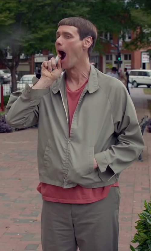 Jim Carrey with London Fog Men's Auburn Zip Front Light Mesh Lined Golf Jacket in Dumb and Dumber To