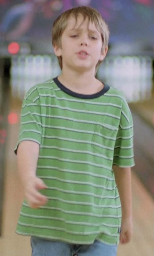 Ellar Coltrane with Target Boys' Striped T-Shirt in Boyhood