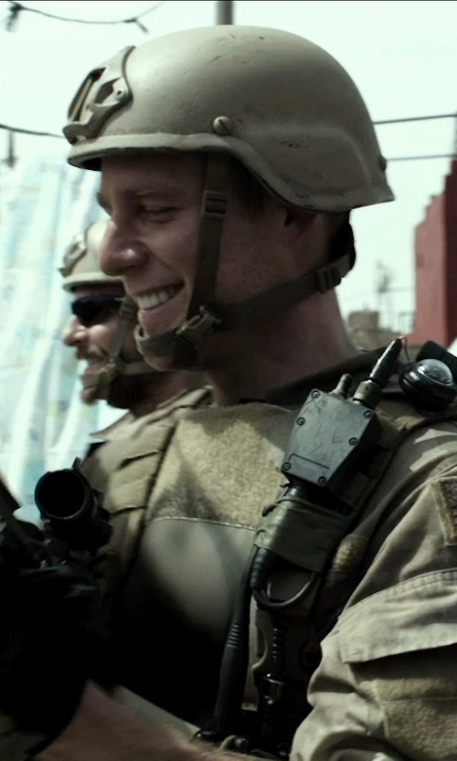 Jake McDorman with Rocket Science Flare Speaker 2-Pin Microphone in American Sniper