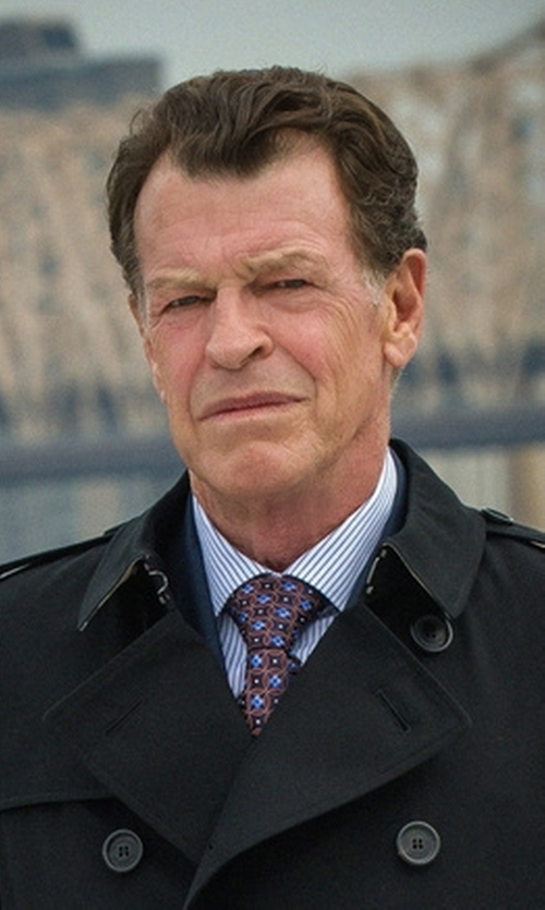 John Noble with Burberry London 'Wiltshire' Trim Fit Double Breasted Trench Coat in Elementary