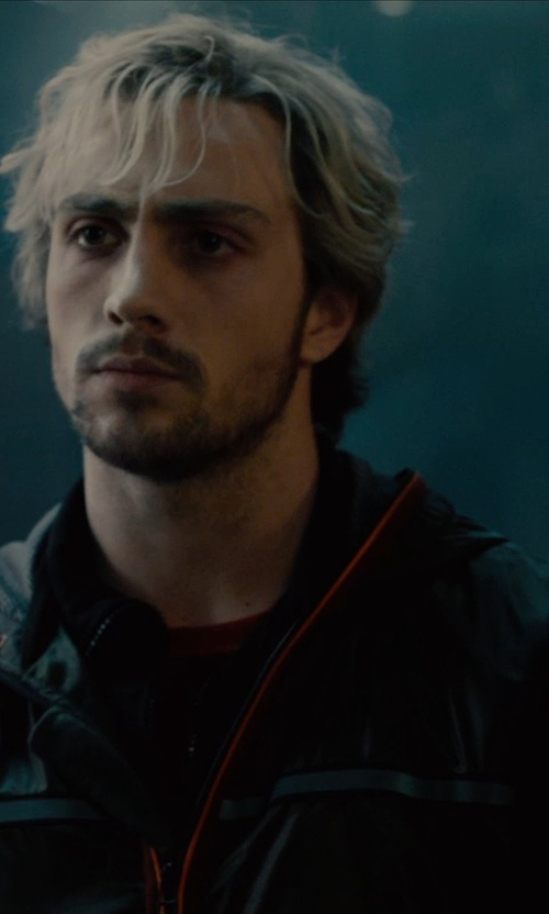 Aaron Taylor-Johnson with Hummel Atlantic Zip Jacket N in Avengers: Age of Ultron
