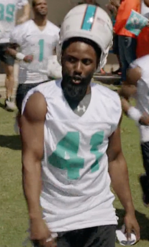 John David Washington with Nike Miami Dolphins Speed Vent Performance Shorts in Ballers