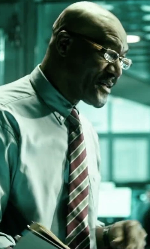 Delroy Lindo with Versace Diagonal-Stripe Silk Tie in Point Break