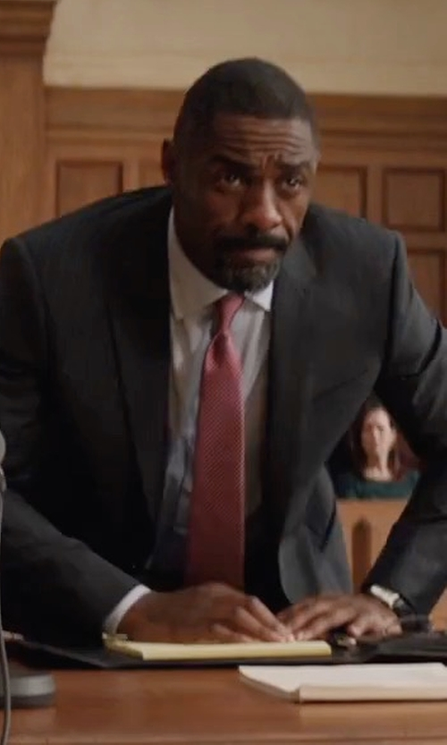 Idris Elba with Boss Huge Genius Slim-Fit Basic Suit in Molly's Game