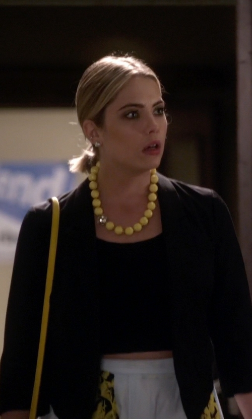 Ashley Benson with BitDazzle Sunshine Yellow Beaded Necklace in Pretty Little Liars