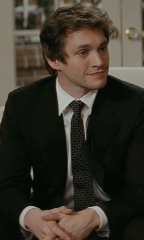 Hugh Dancy with Alexander Olch New York Check Tie in Confessions of a Shopaholic