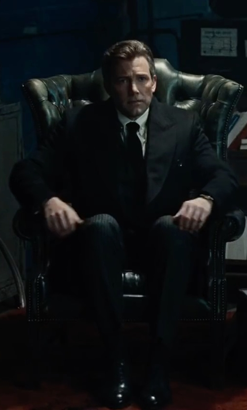 Ben Affleck with Gucci Ravello Leather Oxford Shoes in Justice League