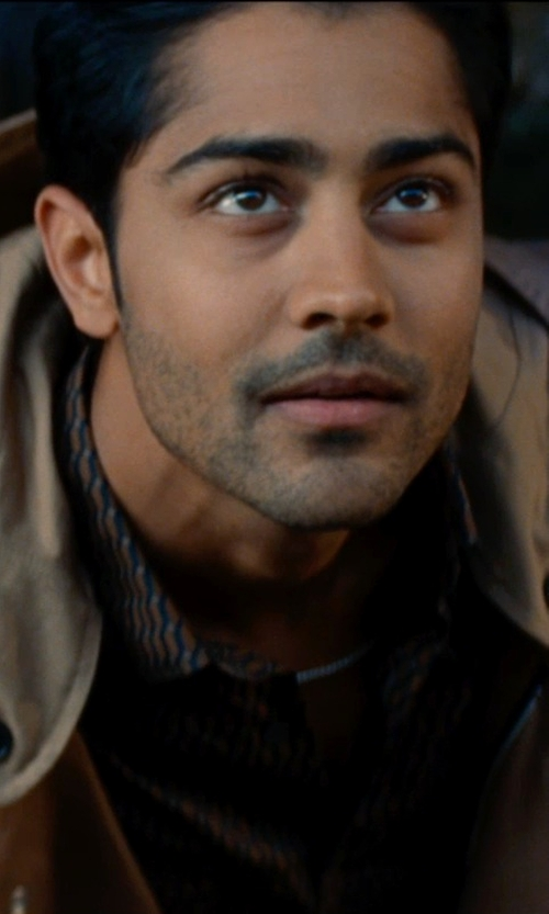 Manish Dayal with Harley-Davidson Men's Easy-Care Genuine Striped Woven Shirt in The Hundred-Foot Journey