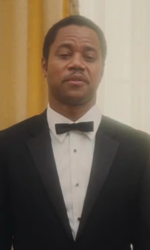 Cuba Gooding Jr. with Yves Saint Laurent White Barrel Cuff Dress Shirt in Lee Daniels' The Butler