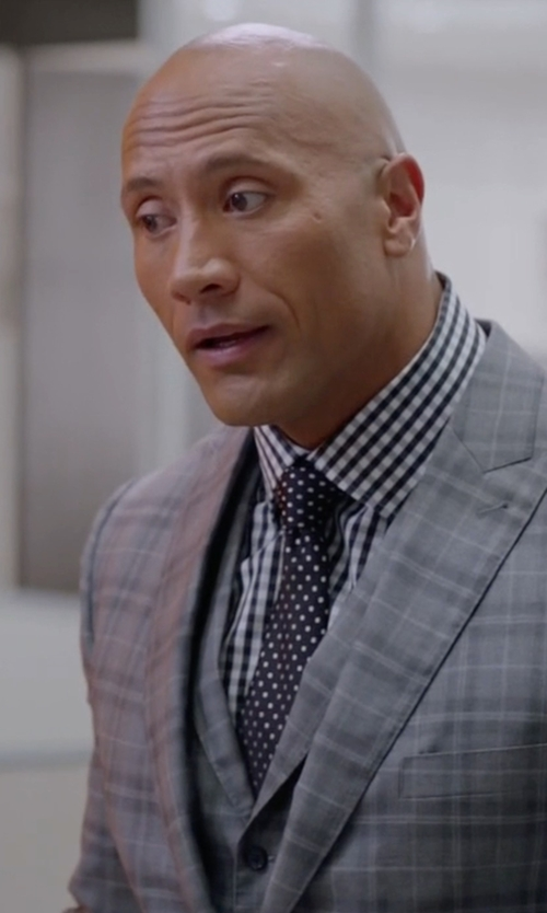 Dwayne Johnson with Tom Ford Textured Dot-Print Silk Tie in Ballers