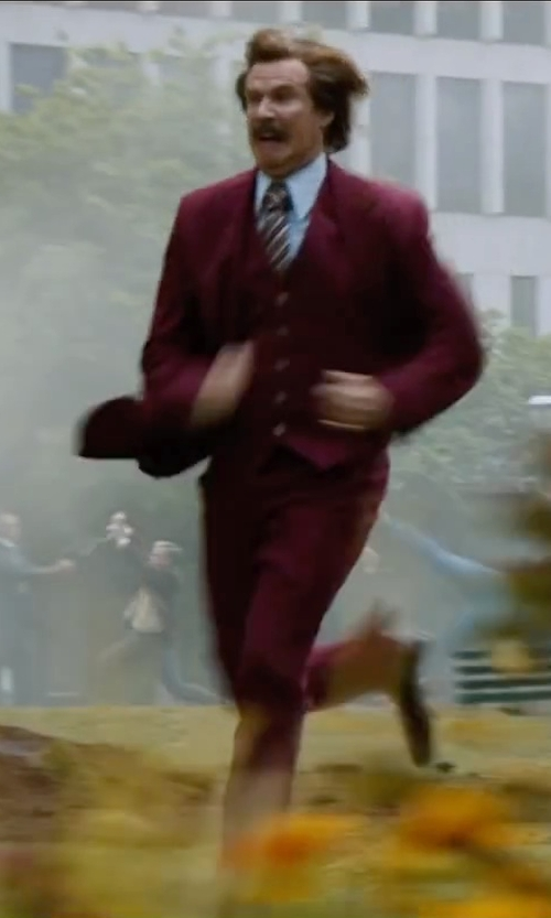 Will Ferrell with J.Z. Richards Woven Silk Tie in Anchorman 2: The Legend Continues