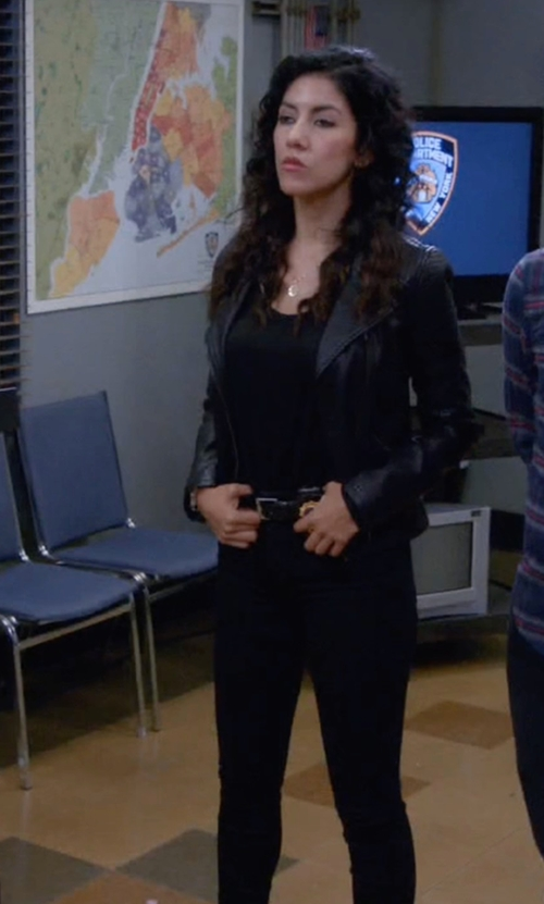 Stephanie Beatriz with Citizens Of Humanity Rocket Skinny Jeans in Brooklyn Nine-Nine