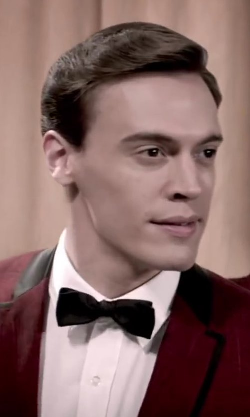 Erich Bergen with DSQUARED SMALL JACQUARD SILK BOW TIE in Jersey Boys